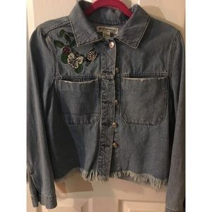 H&M Coachchella Denim Patch Jacket Size Us 14
